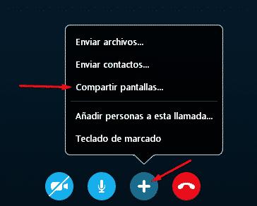 Compartir pantalla de Skype en celular