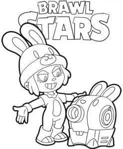 Dibujos para Colorear de Penny de Brawl Stars 2