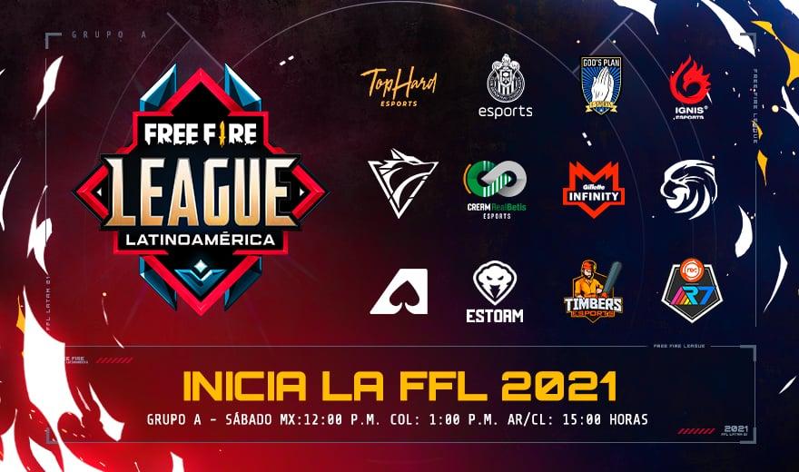 free fire league Latinoamérica 2021