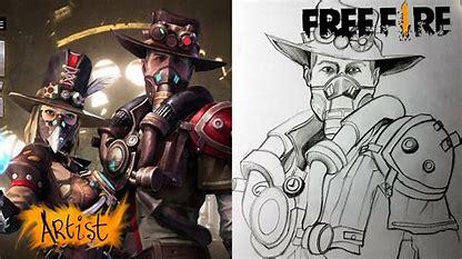 Dibujos de Free Fire a lápiz