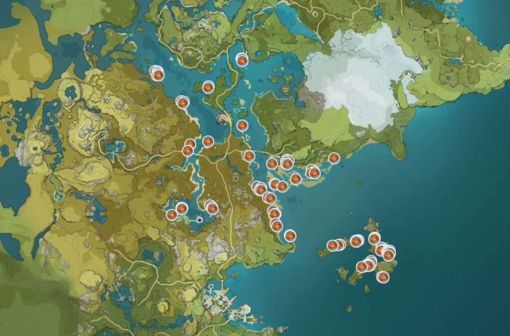 Ubicación Cangrejo en Genshin Impact