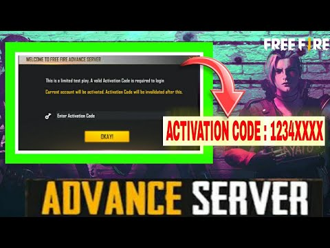 Free Fire advanced server activation code