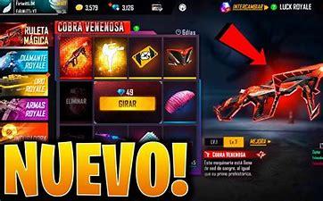 Nueva arma y ruleta Cobra en Free Fire
