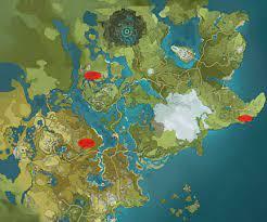 Ubicación piñas en Genshin Impact
