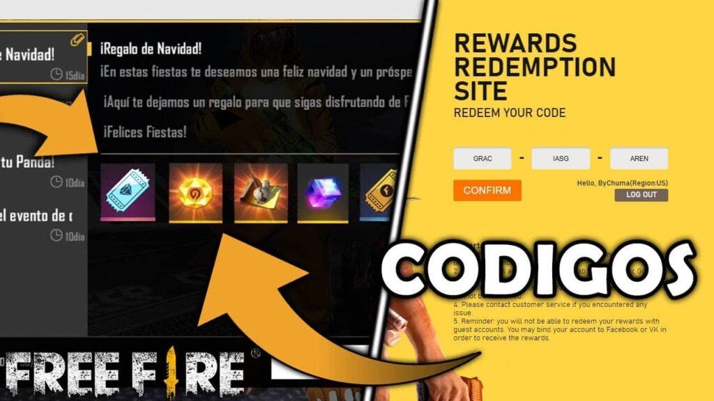 Códigos de free fire Colombia